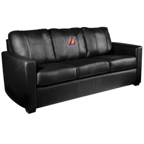 Los Angeles Lakers XZipit Silver Sofa with Secondary Logo