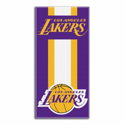 Los Angeles Lakers Zone Read Beach Towel
