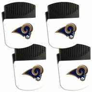 Los Angeles Rams 4 Pack Chip Clip Magnet with Bottle Opener
