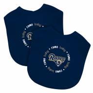 Los Angeles Rams 2-Pack Baby Bibs