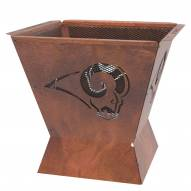 """Los Angeles Rams Badlands 29.5"""" Square Fire Pit"""