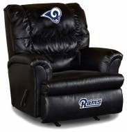 Los Angeles Rams Big Daddy Leather Recliner