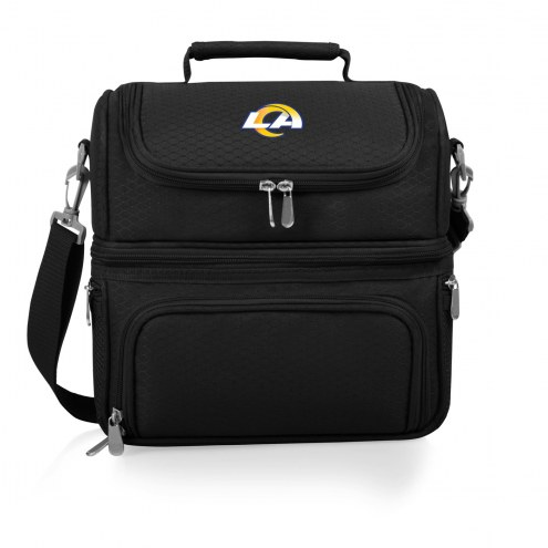 Los Angeles Rams Black Pranzo Insulated Lunch Box