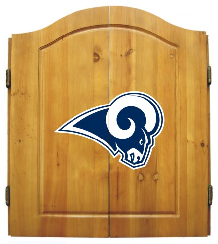 Los Angeles Rams Dart Board Cabinet Set