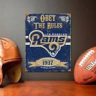 Los Angeles Rams Embossed Metal Sign