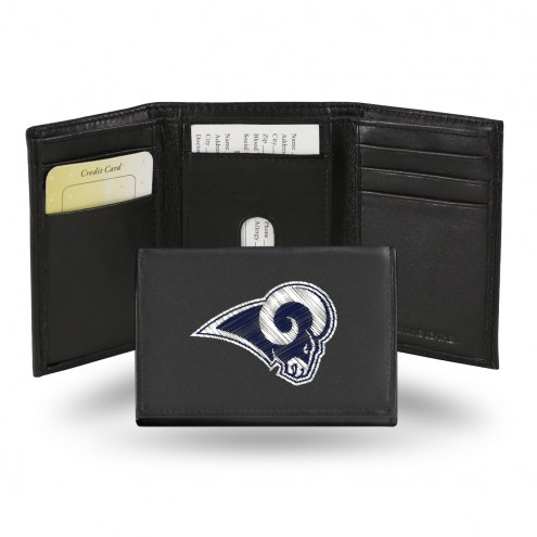 Los Angeles Rams Embroidered Leather Tri-Fold Wallet
