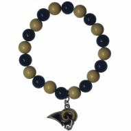 Los Angeles Rams Fan Bead Bracelet