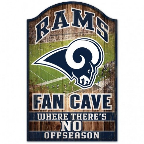 Los Angeles Rams Fan Cave Wood Sign
