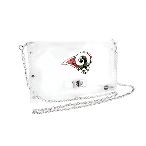 Los Angeles Rams Floral Clear Envelope Purse