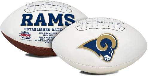 Los Angeles Rams Full Size Embroidered Signature Series Football
