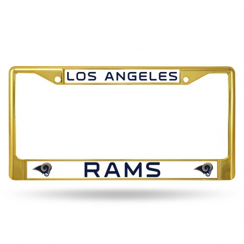 Los Angeles Rams Gold Colored Chrome License Plate Frame