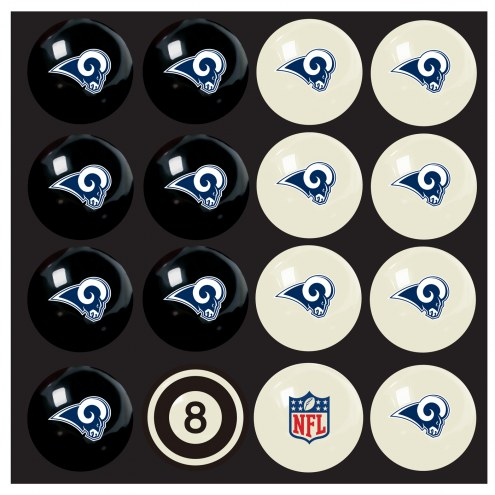 Los Angeles Rams Home vs. Away Pool Ball Set