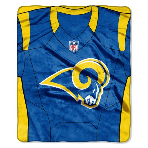 Los Angeles Rams Jersey Raschel Throw Blanket