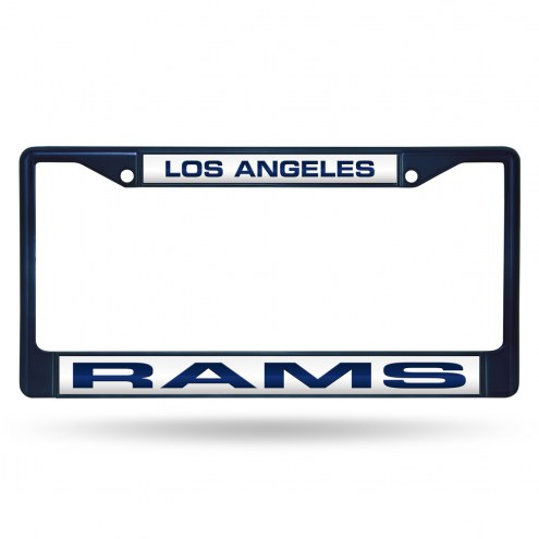 Los Angeles Rams Laser Colored Chrome License Plate Frame