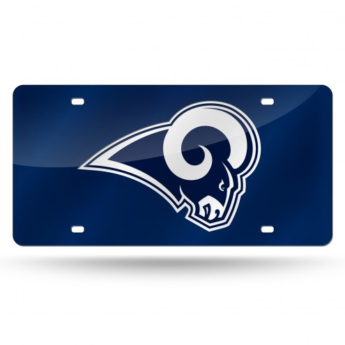 Los Angeles Rams Laser Cut License Plate