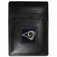 Los Angeles Rams Leather Money Clip/Cardholder in Gift Box