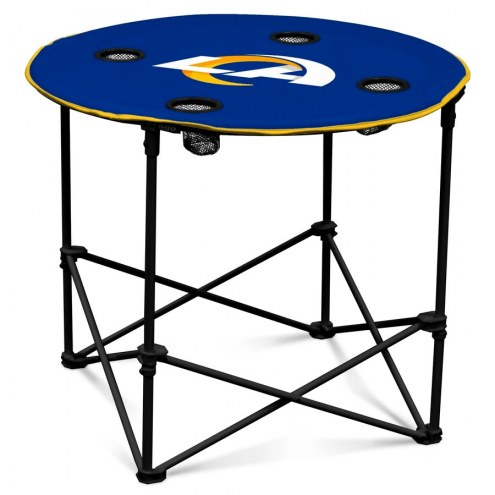Los Angeles Rams Round Folding Table