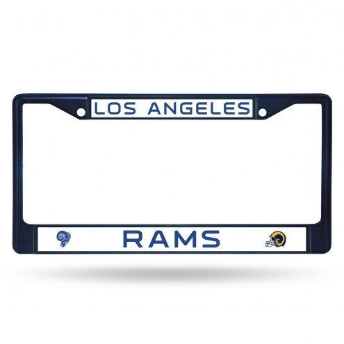 Los Angeles Rams Navy Colored Chrome License Plate Frame