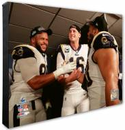 Los Angeles Rams Ndamukong Suh, Aaron Donald, Jared Goff Photo