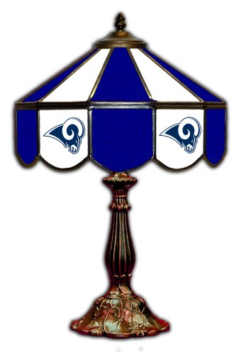 """Los Angeles Rams 21"""" Glass Table Lamp"""