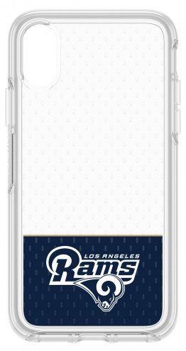 Los Angeles Rams OtterBox iPhone X Symmetry Clear Case