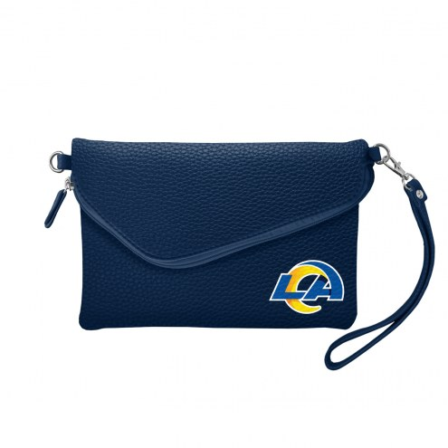 Los Angeles Rams Pebble Fold Over Purse