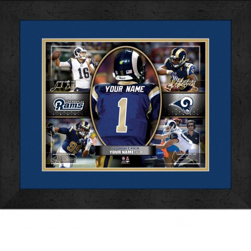 Los Angeles Rams Personalized 13 x 16 Framed Action Collage