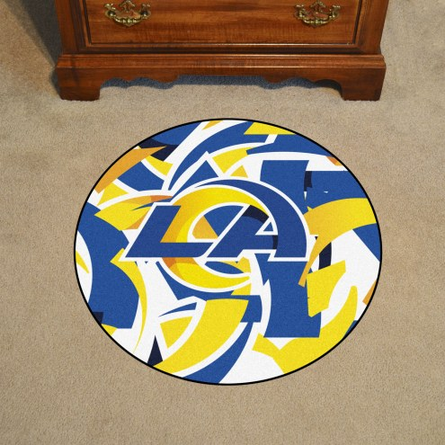 Los Angeles Rams Quicksnap Rounded Mat