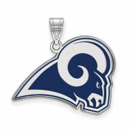 Los Angeles Rams Sterling Silver Enamel Pendant
