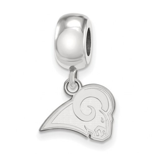 Los Angeles Rams Sterling Silver Extra Small Dangle Bead Charm