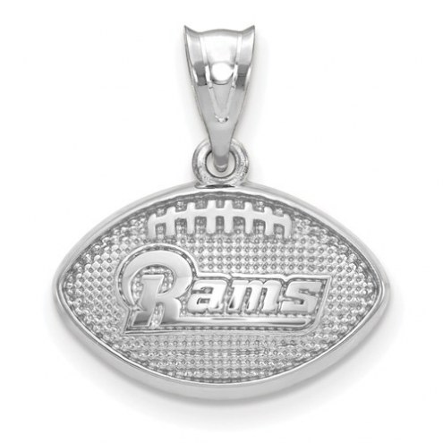 Los Angeles Rams Sterling Silver Football with Logo Pendant