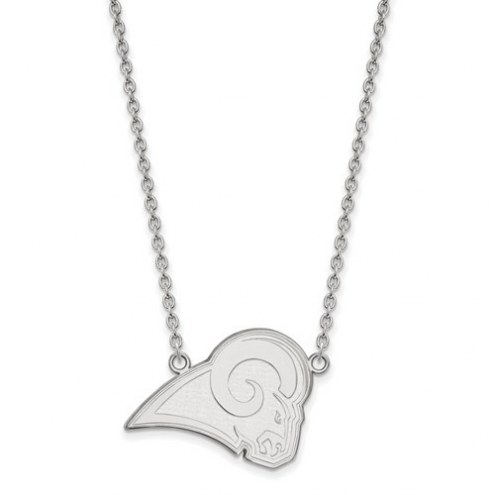 Los Angeles Rams Sterling Silver Large Pendant with Necklace