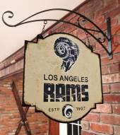 Los Angeles Rams Tavern Sign