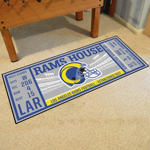 Los Angeles Rams Ticket Runner Rug