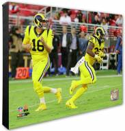 Los Angeles Rams Todd Gurley & Jared Goff Action Photo