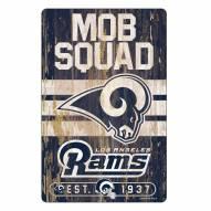 Los Angeles Rams Slogan Wood Sign