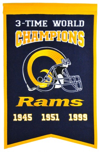 Los Angeles Rams Champs Banner
