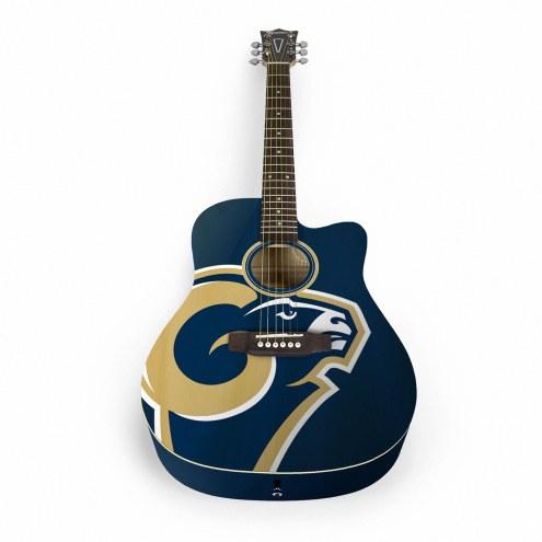 Los Angeles Rams Woodrow Acoustic Guitar