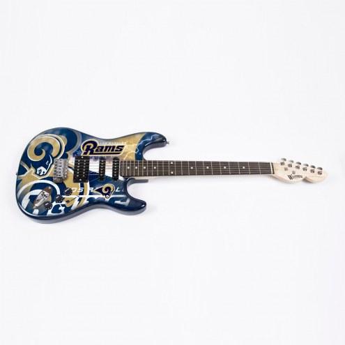 Los Angeles Rams Woodrow Northender Electric Guitar
