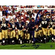 Lou Holtz Running On Field with Team Horizontal 8 x 10 Photo