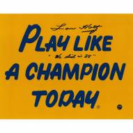 """Lou Holtz Signed Play Like A Champion Today 8 x 10 Photo w/ """"We Did in 88"""""""