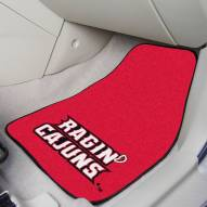 Louisiana Lafayette Ragin' Cajuns 2-Piece Carpet Car Mats