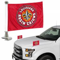Louisiana Lafayette Ragin' Cajuns Ambassador Hood & Trunk Car Flag