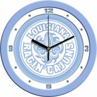 Louisiana Lafayette Ragin' Cajuns Baby Blue Wall Clock