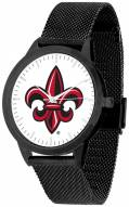 Louisiana Lafayette Ragin' Cajuns Black Mesh Statement Watch