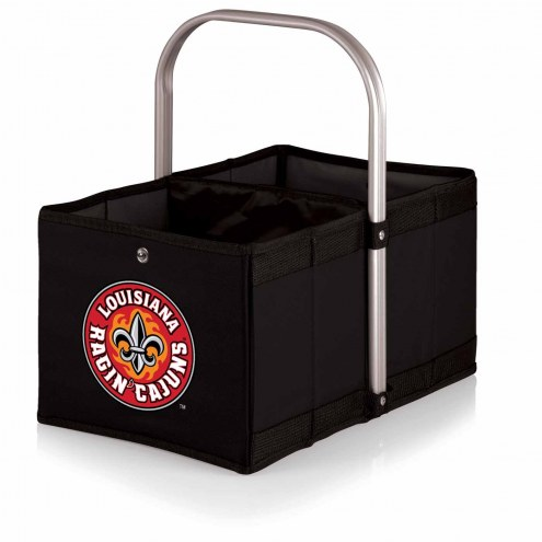 Louisiana Lafayette Ragin' Cajuns Black Urban Picnic Basket