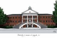 Louisiana Lafayette Ragin' Cajuns Campus Images Lithograph