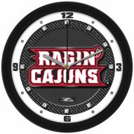Louisiana Lafayette Ragin' Cajuns Carbon Fiber Wall Clock