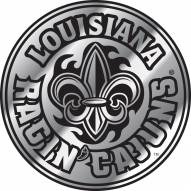 Louisiana Lafayette Ragin' Cajuns Chrome Car Emblem