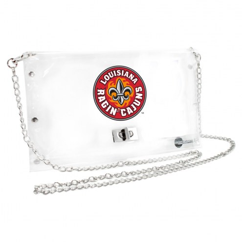 Louisiana Lafayette Ragin' Cajuns Clear Envelope Purse
